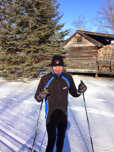 Tom Doohey out for a Friday morning ski