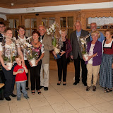 Gästeehrung der treuen Stammgäste- Premiazioni degli ospiti,che vengono già tanti 02.10.2012