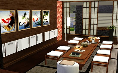 Japanese Dining Set by GuijoB. Download at GuijoB
