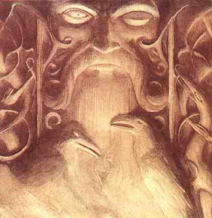 Odin And His Ravens, Asatru Gods And Heroes