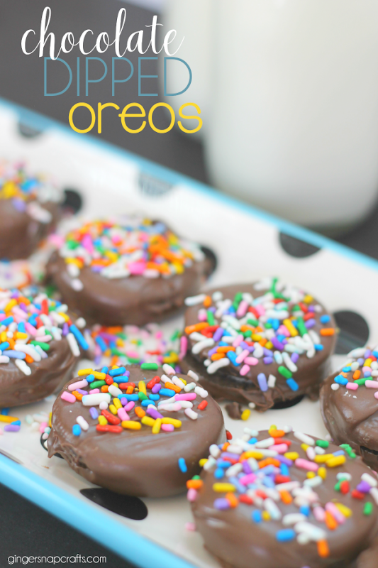Chocolate Dipped Oreos at GingerSnapCrafts.com
