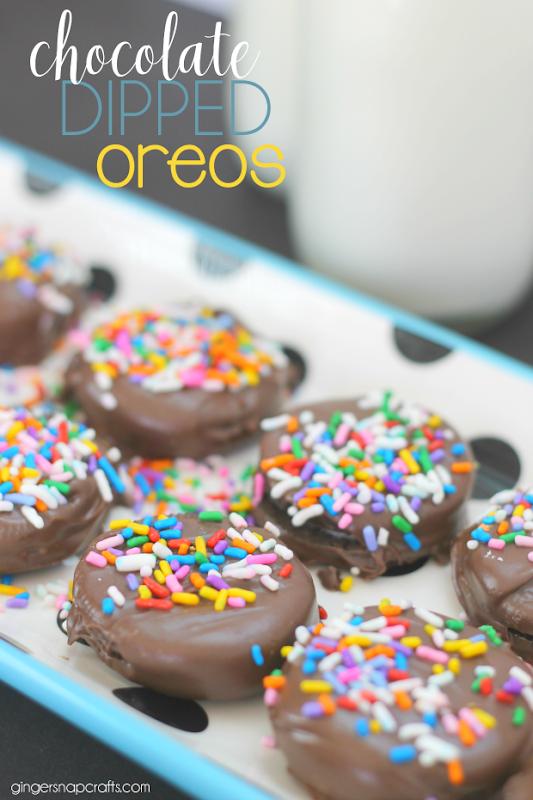 Chocolate Dipped Oreos at GingerSnapCrafts.com