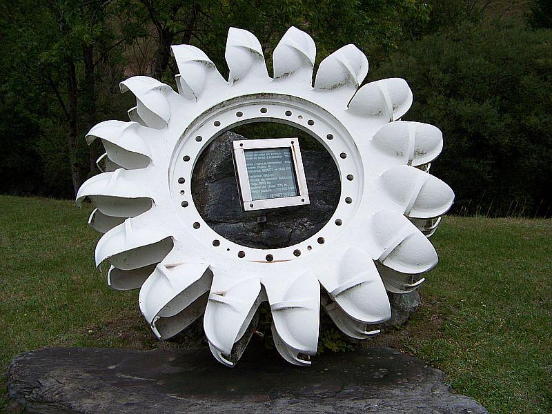 Une roue Pelton à Allemont