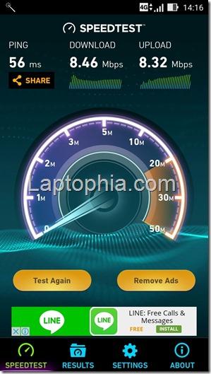 Speedtest Asus Zenfone 2 Laser ZE550KL