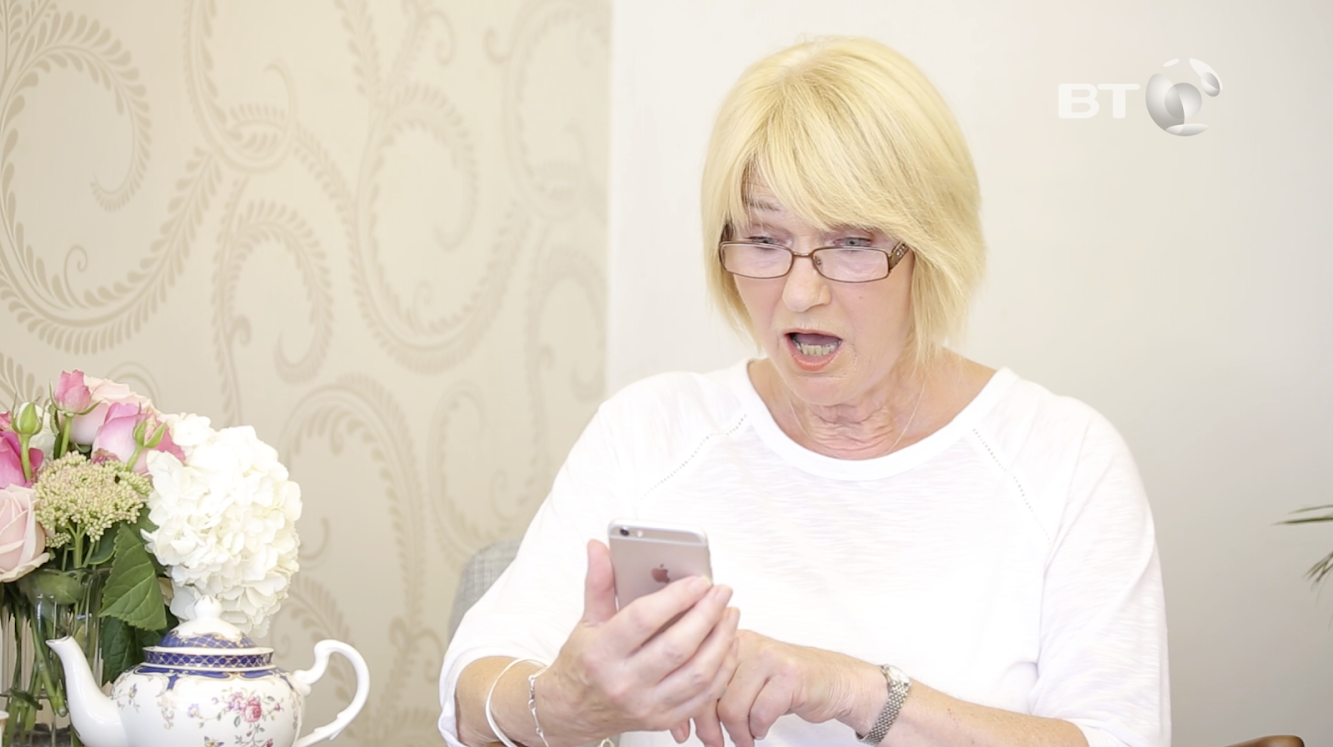 Grannies try Snapchat in hilarious new video from BT