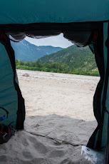 Wild camping at a river