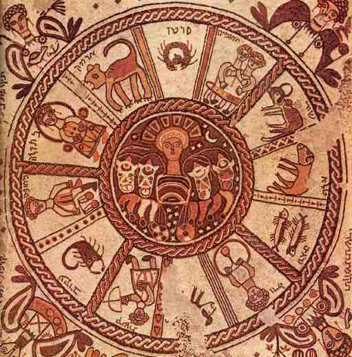 Zodiac Wheel Sixth Century Mosaic Beit Alpha, King Solomon