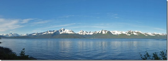 View of Kania Mountains and Resurrection Bay from near Lowell Point
