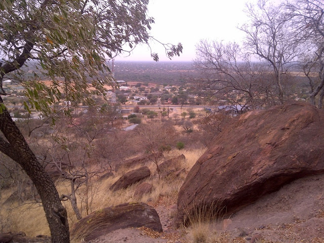 climbing up Phapane Hill