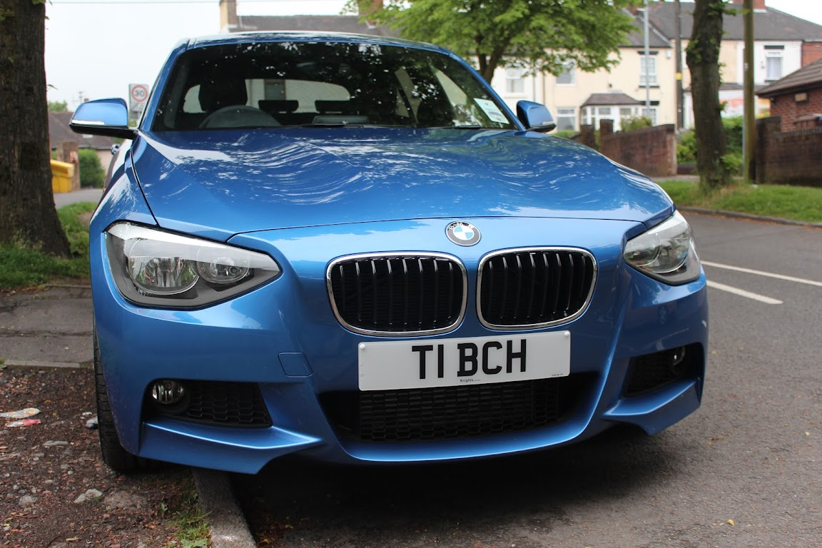 bmw f20 116i m sport estoril blue