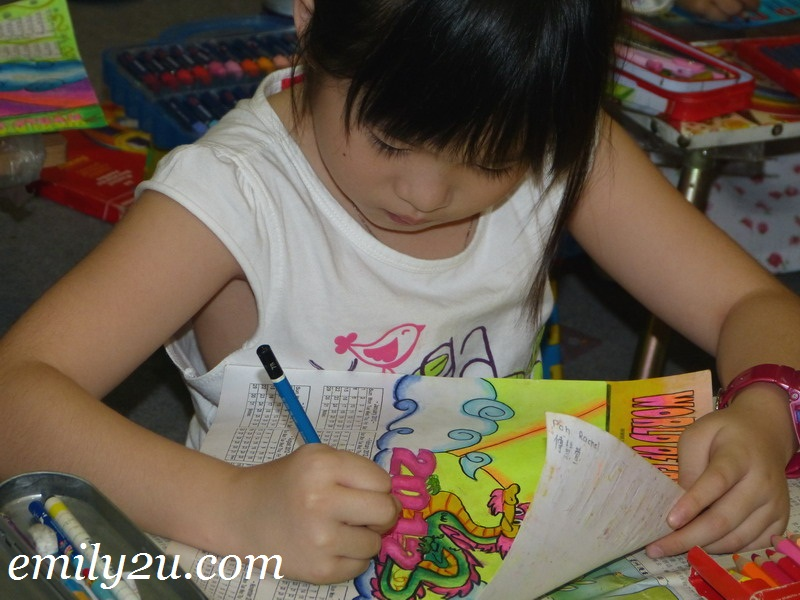 children colouring activity