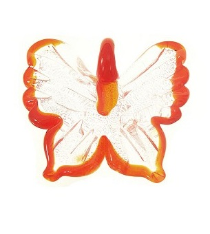 Orange Glass Butterfly Pendant from AuntiesBeads.com