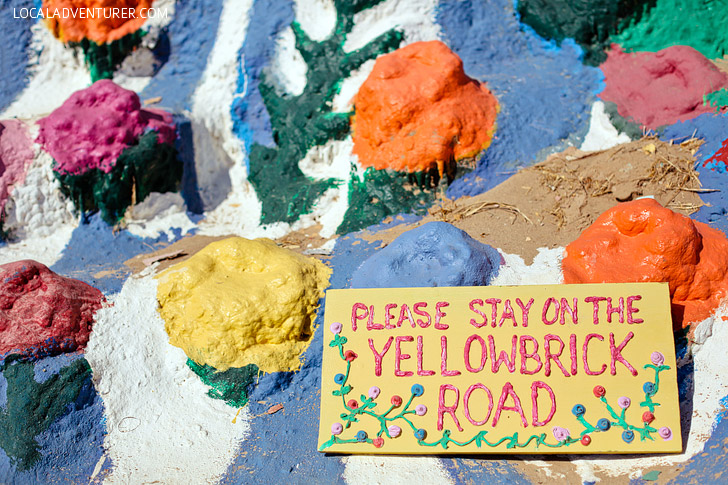 Slab City Salvation Mountain California (Strange Roadside Attractions).