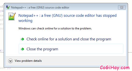 Sửa lỗi Notepad ++ crash và khôi phục file bị mất dữ liệu