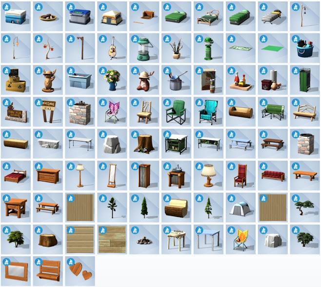 De Sims 4 In de Natuur nieuwe voorwerpen
