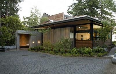 3 Дизайн интерьера деревянного дома в Вашингтоне, США ФОТО