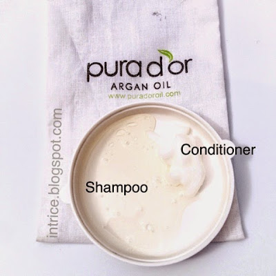 Pura Dor Shampoo Conditioner Swatch - photo credit: intrice.blogspot.com