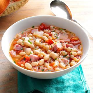 Hearty Navy Bean Soup.