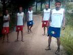 Miguel Lara, Leonardo Silva and friends at Prochi ejido...the running team.