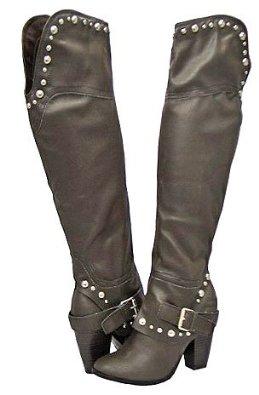 New 4 Layer Fringe Shaft Moccasin Moc Toe Flat Mid Calf Knee High Zipper Boot US