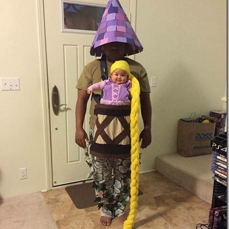Disfraz casero de Rapunzel, disfraces para padres e hijos