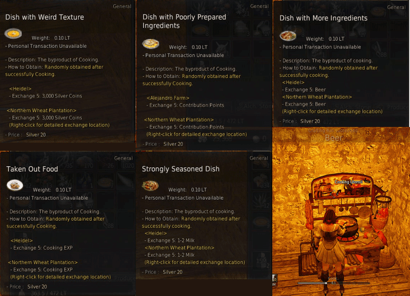 Greedy goblin: BDO wealth: Cooking for little profit and lots of CP