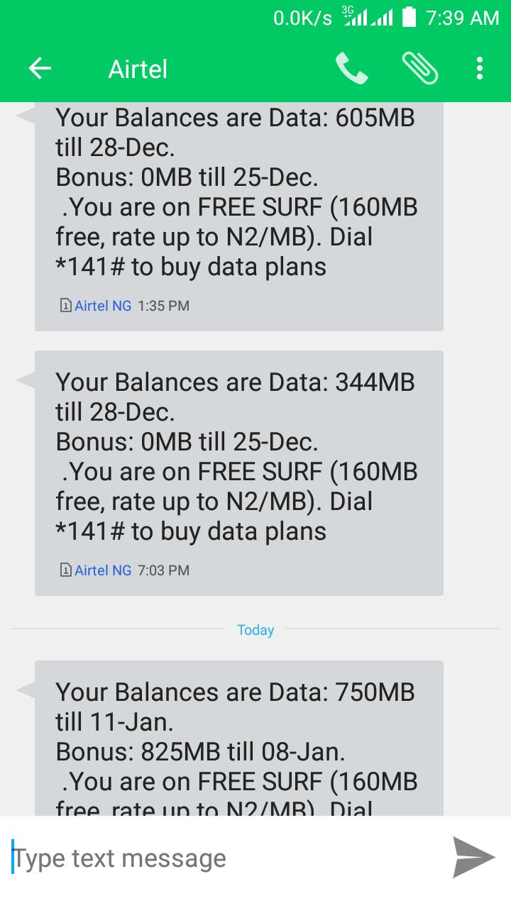 WATA SABUWAR HANYAR DA ZAKU SAMU FREE DATA/MB   Airtel 350Mb & 1gb