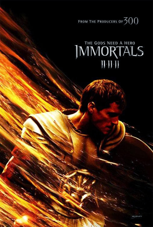 Poster Of Immortals (2011) Full Movie Hindi Dubbed Free Download Watch Online At Alldownloads4u.Com