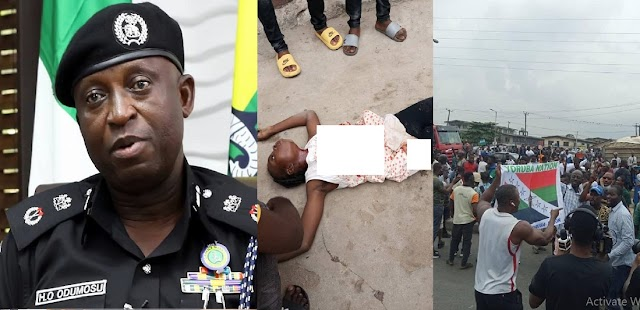 """""""The corpse is not fresh"""" - Lagos Police Command Refutes Reports Of Girl Killed By Stray Bullet At Yoruba Nation Protest"""