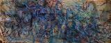 """Serie """"A travers l'eau"""" Nuit 5,60X140, huile/toile"""