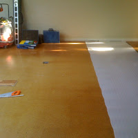 Varnished Cork Replaced with Floating Timber Floor