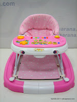 1 JUNIOR #168 2 in One Baby Walker and Rocker with Music