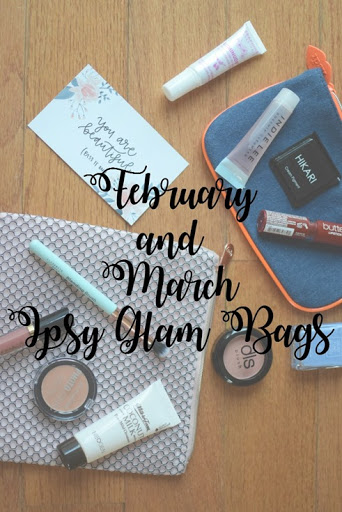 February and March Ipsy Glam Bags
