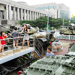 many tanks at the War Memorial of Korea in Seoul, Seoul Special City, South Korea