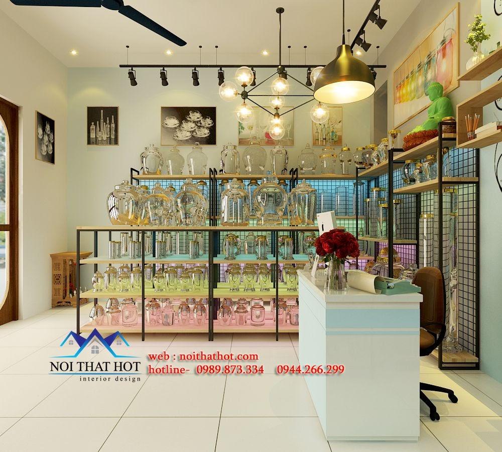 thiết kế cửa hàng pha lê, thủy tinh đẹp