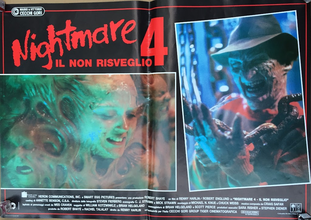 Italian Lobby card Nightmare 4 3 of 6  26x19 #1