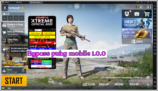 ByPass PUBG Mobile 1.0.0 - ByPass Xtreme LD Player