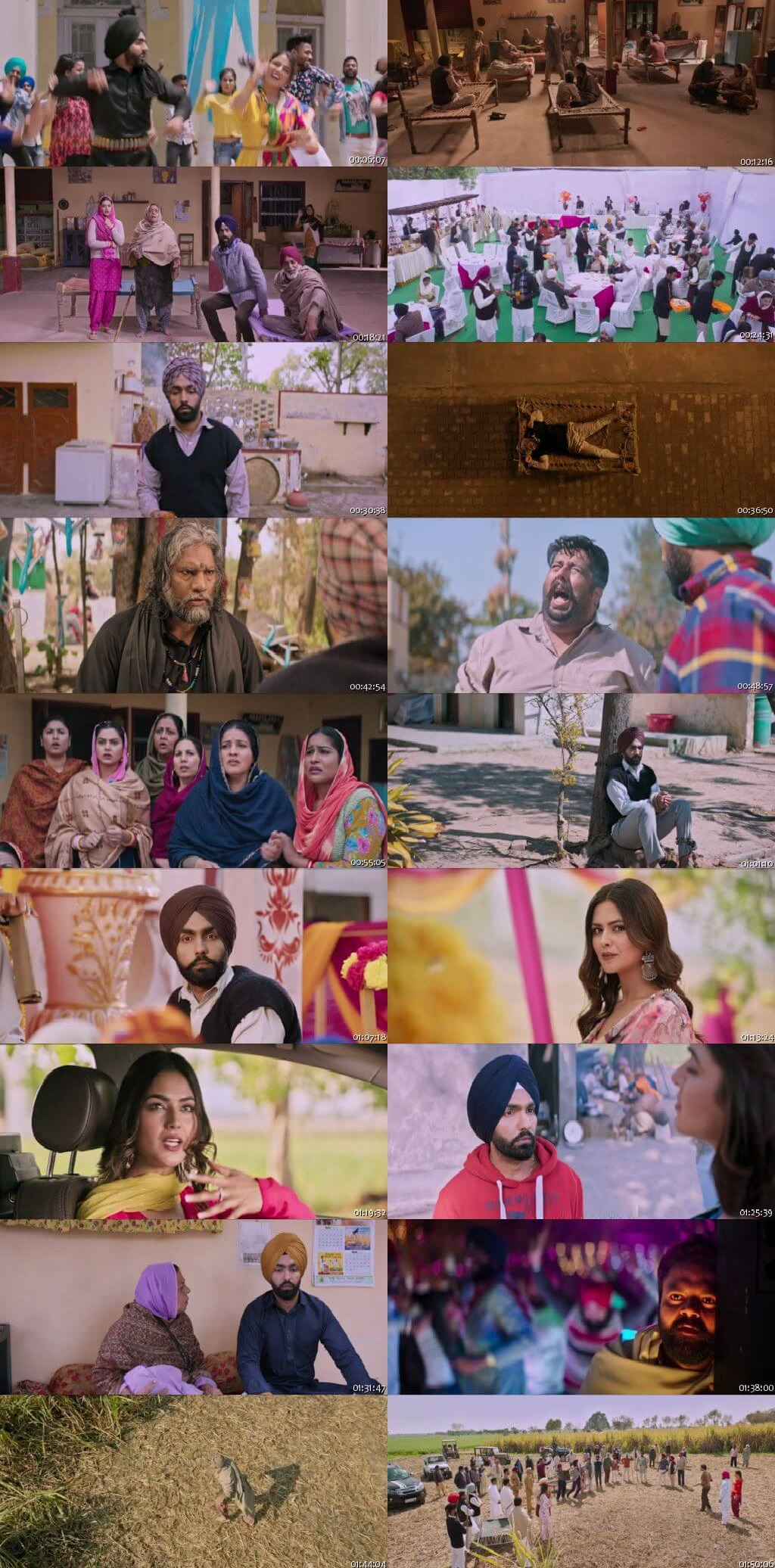 Screen Shot Of Nikka Zaildar 3 2019 300MB HDRip 480P Full Punjabi Movie Watch Online Free Download