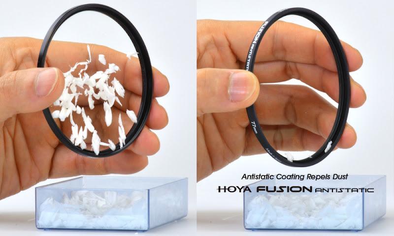 Testing khả năng chống tĩnh điện Kính lọc Filter HOYA Fusion Antistatic UV