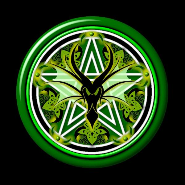 Green Dragon, Celtic And Druids