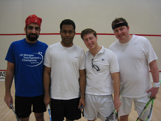 2013 Open 3.5 MA State Softball Doubles finals: Rohit Mathur and Vivek Vardarajan, finalists, and William Vigne and Doug O'Brien, winners.