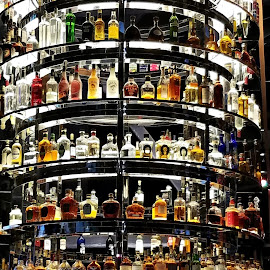 Liquor Tower by Ruth Sano - Food & Drink Alcohol & Drinks ( bottles, liquor, tower )