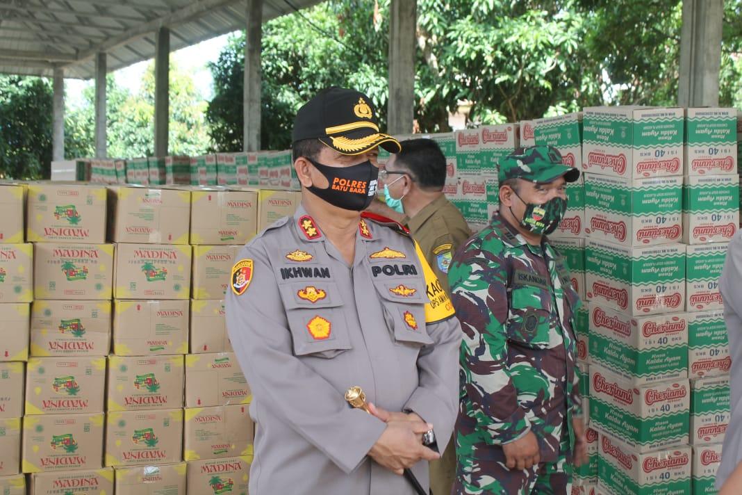 Tinjau Posko Sembako Prov Sumut, Kapolres Batubara,  Bantuan Sembako Harus Tepat Sasaran kepada Masyarakat
