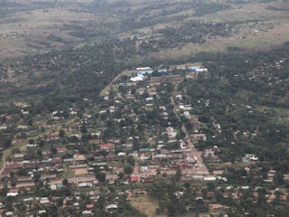 Une vue aérienne de la ville de Kananga au Kasaï-Occidental Photo Myriam Asmani