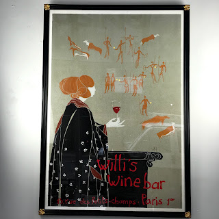 Willi's Wine Bar Framed Lithograph Poster