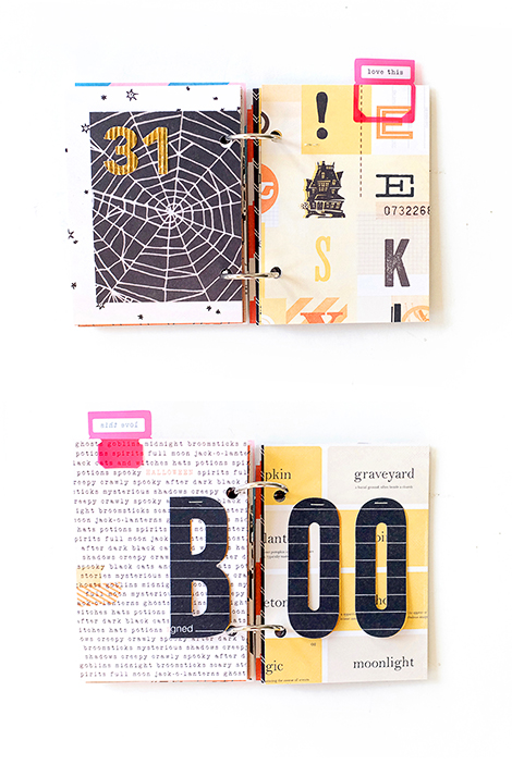 Maria Lacuesta - Crate Paper Design Team - Halloween Mini Album