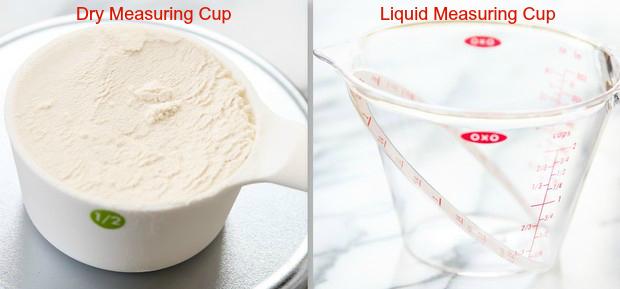 Baking 101: Liquid vs Dry Measuring Cups