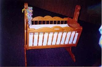 Photo: Oak cradle for a friend's niece.