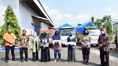 Kapolres Banjar Bersama Walikota Hadiri Launching Penyaluran Bantuan Beras PPKM Darurat