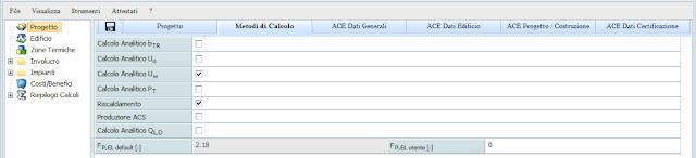 software Docet Pro 2010 - certificazione energetica - zone termiche
